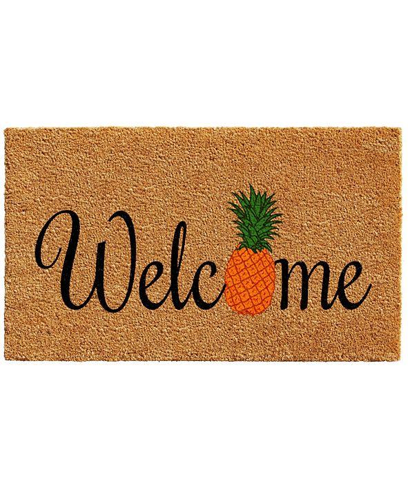"""Home & More Pineapple Fun 17"""" x 29"""" Coir/Vinyl Doormat"""