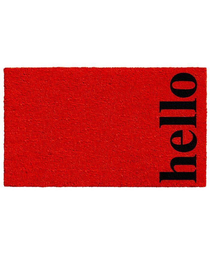 """Home & More - Vertical Hello 17"""" x 29"""" Coir/Vinyl Doormat"""