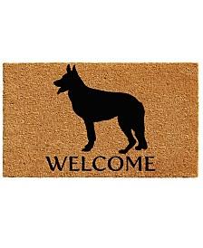 """German Shepherd 17"""" x 29"""" Coir/Vinyl Doormat"""