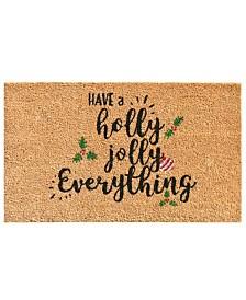 """Holly Jolly 17"""" x 29"""" Coir/Vinyl Doormat"""