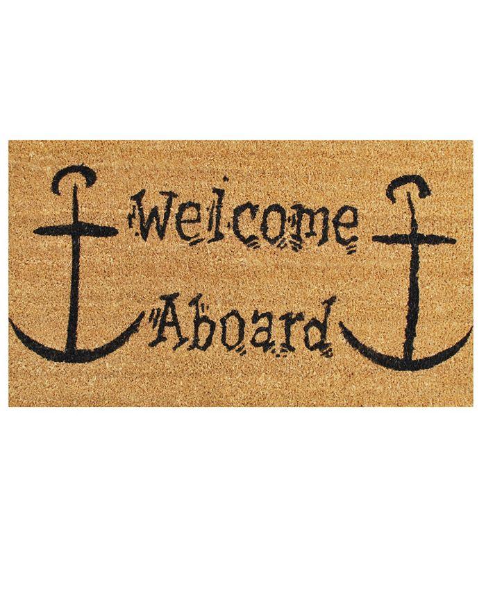 """Home & More - Welcome Aboard 17"""" x 29"""" Coir/Vinyl Doormat"""