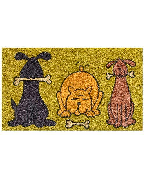 """Home & More Doggie Fun 17"""" x 29"""" Coir/Vinyl Doormat"""