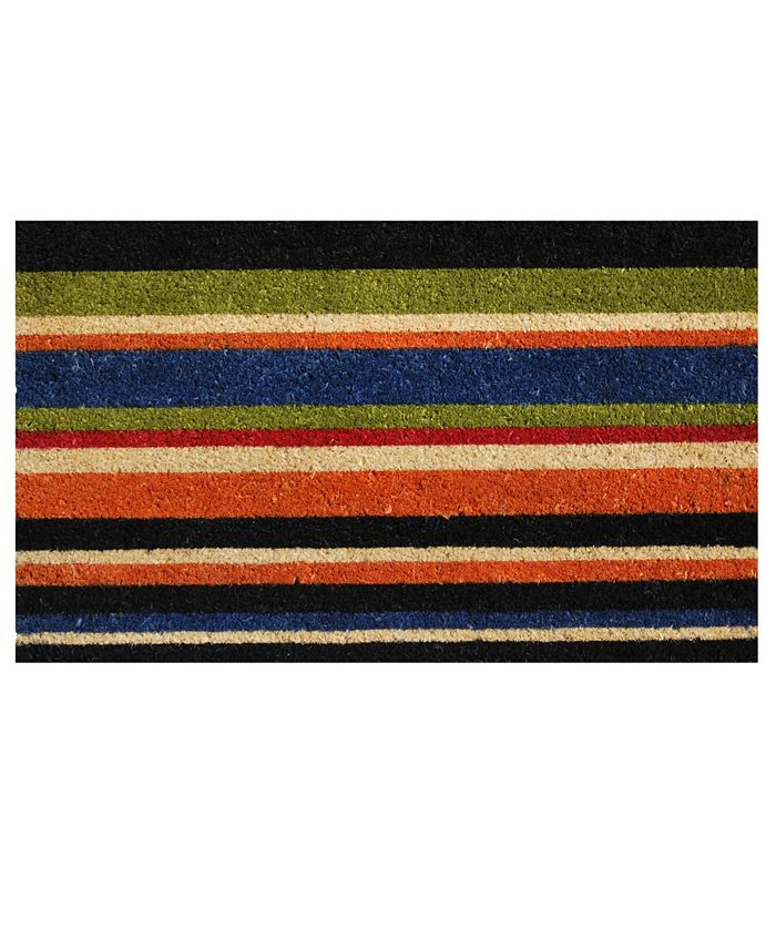 "Home & More - Triple Stripe 17"" x 29"" Coir/Vinyl Doormat"