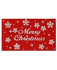 """Christmas Stars 17"""" x 29"""" Coir/Vinyl Doormat"""