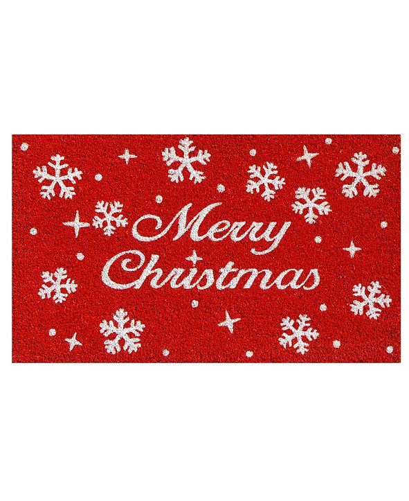 "Home & More Christmas Stars 17"" x 29"" Coir/Vinyl Doormat"