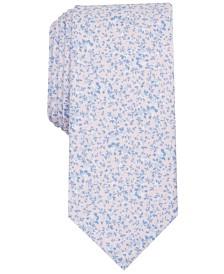 Bar III Men's Watercolor Floral Print Skinny Tie, Created for Macy's