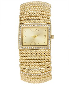Women's Stretch Gold-Tone Bracelet Watch 42mm, Created for Macy's