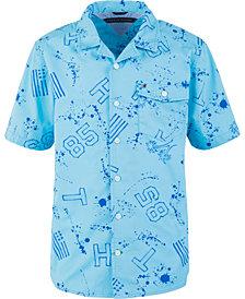 Tommy Hilfiger Toddler Boys Brendon Paint Splatter Cotton Shirt