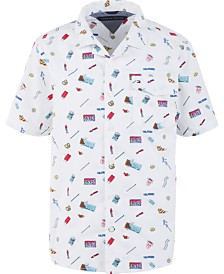 Tommy Hilfiger Big Boys Franco Candy-Print Poplin Camp Shirt