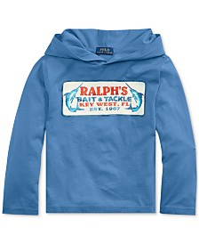 Polo Ralph Lauren Toddler Boys Cotton Jersey Hooded Graphic T-Shirt