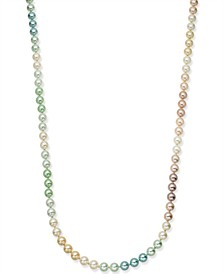 "Gold-Tone Multicolor Imitation Pearl Strand Necklace, 60"" + 2"" extender, Created for Macy's"