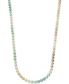 "Charter Club Gold-Tone Multicolor Imitation Pearl Strand Necklace, 60"" + 2"" extender, Created for Macy's"