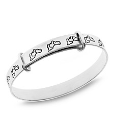 Beatrix Potter Sterling Silver Walking Peter Rabbit Expander Bangle Bracelet