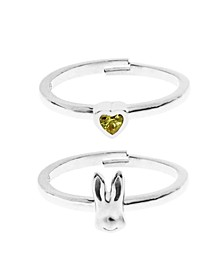 Beatrix Potter Sterling Silver Peter Rabbit Set of 2 Rings