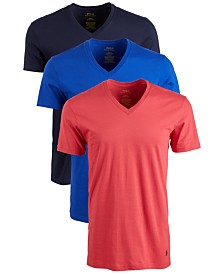 Polo Ralph Lauren Men's Classic V-Neck Cotton T-Shirt, 3-Pk.