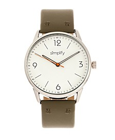 Quartz The 6300 White Dial, Genuine Olive Leather Watch 41mm