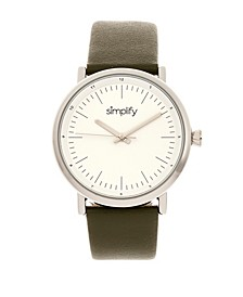 Quartz The 6200 White Dial, Genuine Olive Leather Watch 39mm
