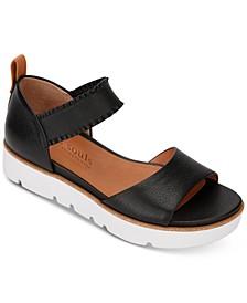 by Kenneth Cole Women's Lavern Ruffle Strap Platform Sandals