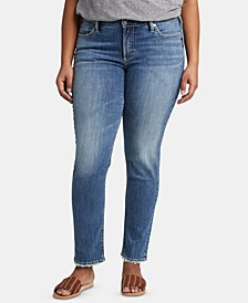 Trendy Plus Size Avery Curvy-Fit Slim-Leg Jeans