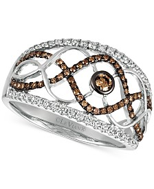 Le Vian Chocolatier® Diamond Statement Ring (1/2 ct. t.w.) in 14k White Gold