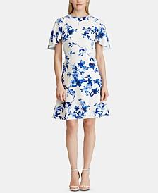 Lauren Ralph Lauren Petite Floral Jacquard Dress