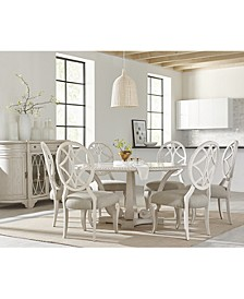 Trisha Yearwood Jasper County Dogwood Round Dining 7-Pc. Set (Table & 6 Side Chairs)