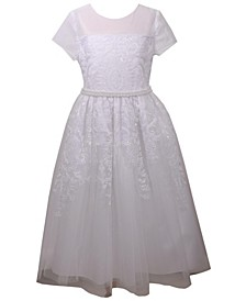 Sequin Embroidered Communion Dress