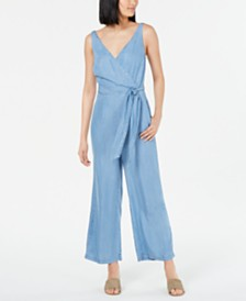Maison Jules Wide-Leg Sleeveless Jumpsuit, Created for Macy's