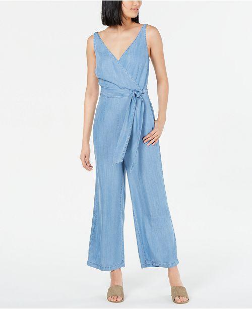 Maison Jules Wide-Leg Sleeveless Jumpsuit, Created for Macy's