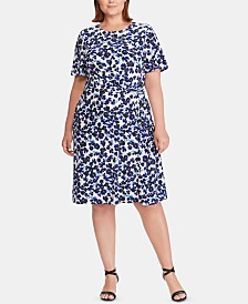 Lauren Ralph Lauren Plus Size Floral-Print Dress