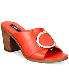 DKNY Cavi Mules, Created For Macy's