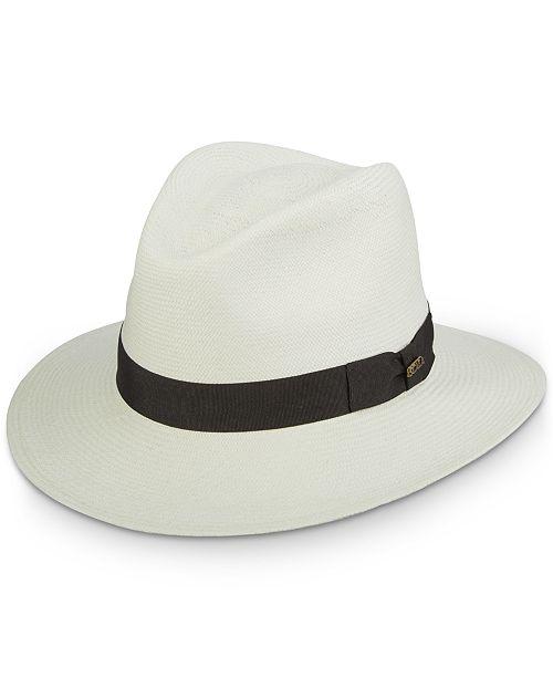 Dorfman Pacific Men's Scala Grade 8 Panama Hat