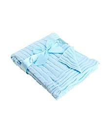 3Stories Baby Cable Knit Baby Blanket
