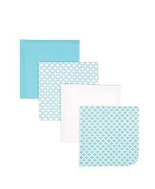 4 Pack Receiving Blankets in Gift Bag