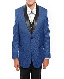 Shawl Collar Floral Pattern 2 Button Suits for Boys