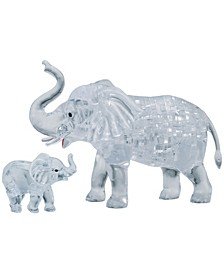 3D Crystal Puzzle-Elephant and Baby - 46 Pcs