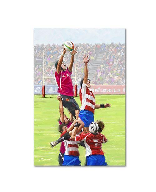 "Trademark Global The Macneil Studio 'Rugby Players' Canvas Art - 47"" x 30"" x 2"""