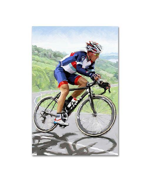 "Trademark Global The Macneil Studio 'Cyclist 2' Canvas Art - 19"" x 12"" x 2"""