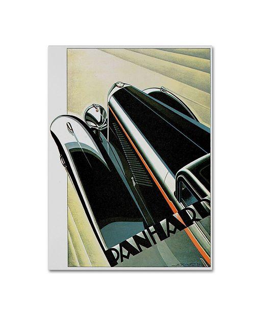 "Trademark Global Vintage Apple Collection 'Art Deco Auto' Canvas Art - 47"" x 35"" x 2"""