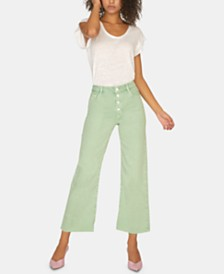 Sanctuary Non Conformist Button-Fly Wide-Leg Jeans
