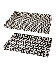 Hanley Geometric Trays, Set of 2