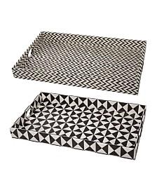 Hanley Geometric Trays, Set of 2