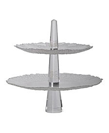 Orlinda Crystal 2-Tier Serving Plates