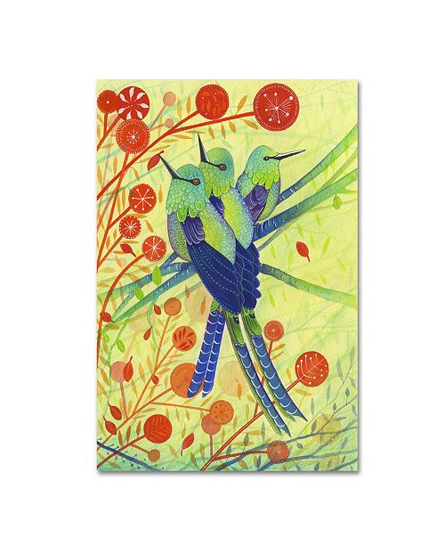 "Trademark Global Michelle Campbell 'Hummingbirds' Canvas Art - 24"" x 16"" x 2"""