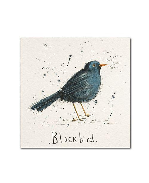 "Trademark Global Michelle Campbell 'Black Bird' Canvas Art - 35"" x 35"" x 2"""