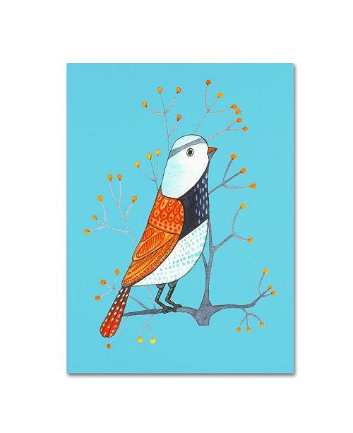 """Trademark Global Michelle Campbell 'Bird Design 7' Canvas Art - 32"""" x 24"""" x 2"""""""