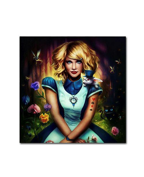"Trademark Global JoJoesArt 'Alice in Wonderland' Canvas Art - 24"" x 24"" x 2"""
