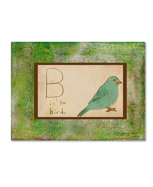 "Trademark Global Tammy Kushnir 'B is For Bird' Canvas Art - 32"" x 24"" x 2"""