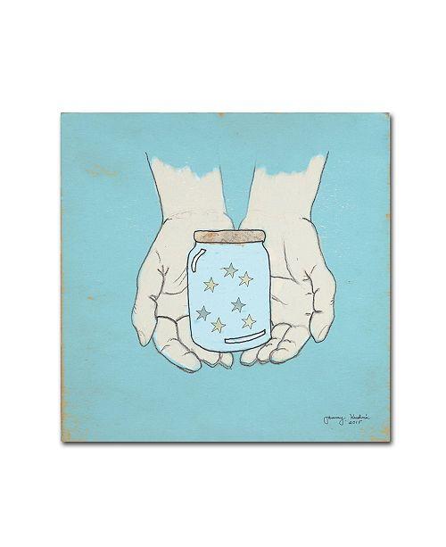 "Trademark Global Tammy Kushnir 'Jar Of Wishes Blue' Canvas Art - 24"" x 24"" x 2"""