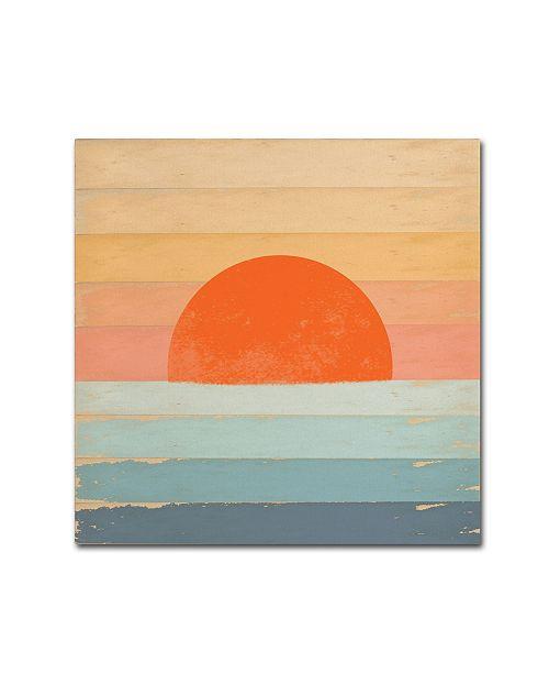 "Trademark Global Tammy Kushnir 'Sunrise Over the Sea' Canvas Art - 18"" x 18"" x 2"""